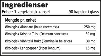 Herbal Supplements Åndedrett formel ingredienser