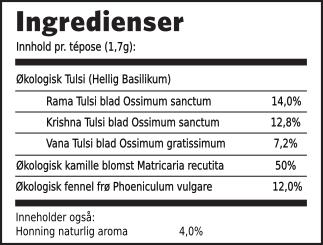 Tulsi honning kamille ingredienser