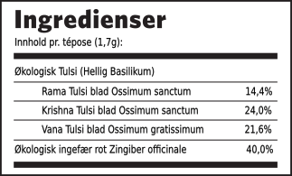 Tulsi ingefær ingrdienser