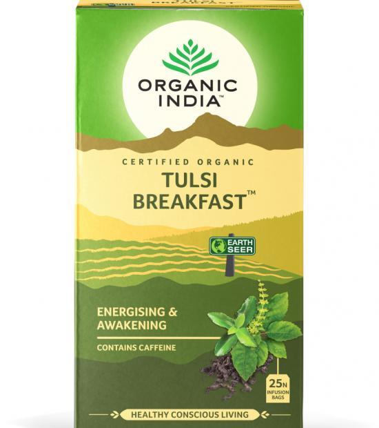 Tulsi green tea breakfast